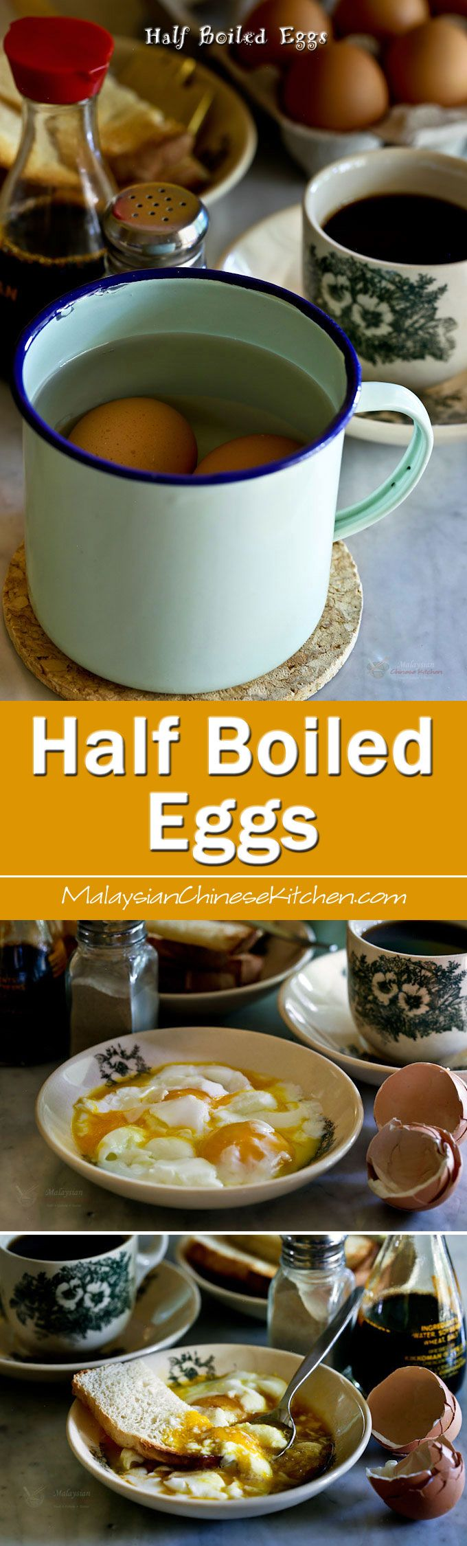 Half Boiled Eggs and toast are a favorite Malaysian breakfast. Learn how to cook them to a soft, creamy, and delicious perfection in a hot water…