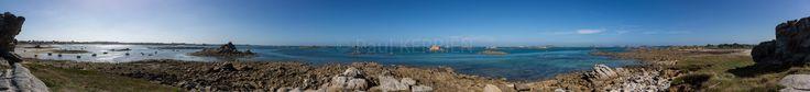 panorama de 300° à Santec  île de Batz île de Sieck Roscoff © Paul Kerrien http://toilapol.net Finistère Bretagne