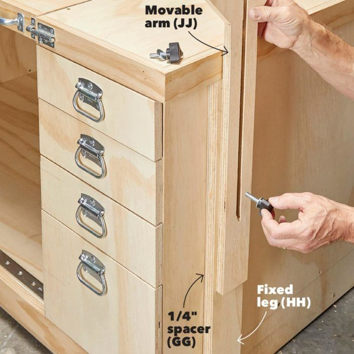 How To Build A Space Saving Flip Top Workbench In 2020 Workbench Workbench Plans Diy Tool Bench