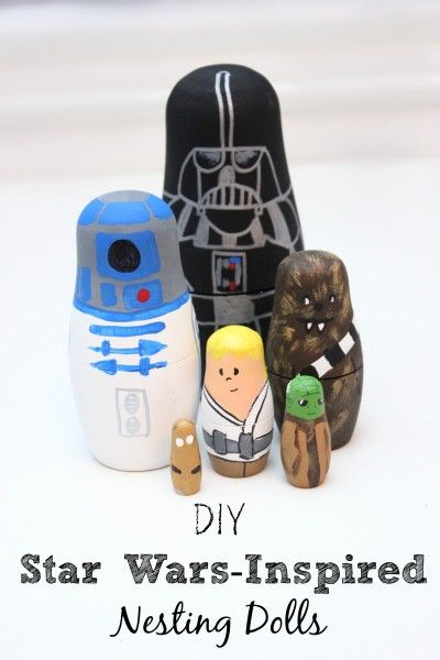 DIY gifts for Star Wars fans. Make these adorable nesting dolls for a handmade Christmas gift!
