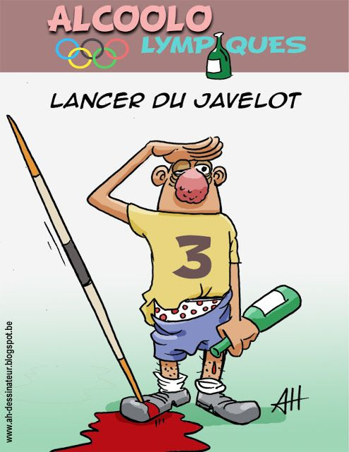 AH dessinateur: Alcoololympique : Lancer du javelot