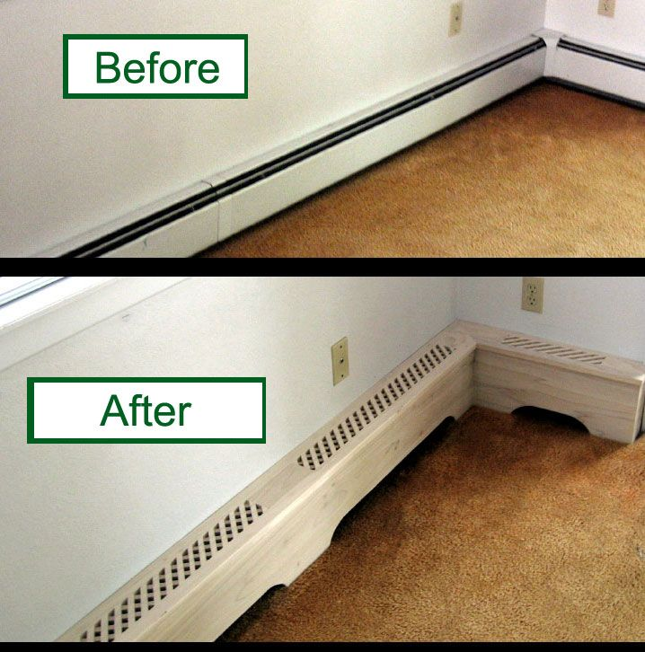 baseboard heater covers - Hydronic Baseboard Heaters