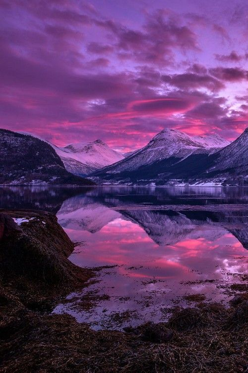 winter sunset - Norway (by Haakon Nygård)