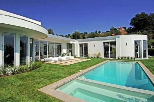 trousdale estates beverly hills ca   Beverly Hills house designed by architect Wallace Neff in 1956 for ...