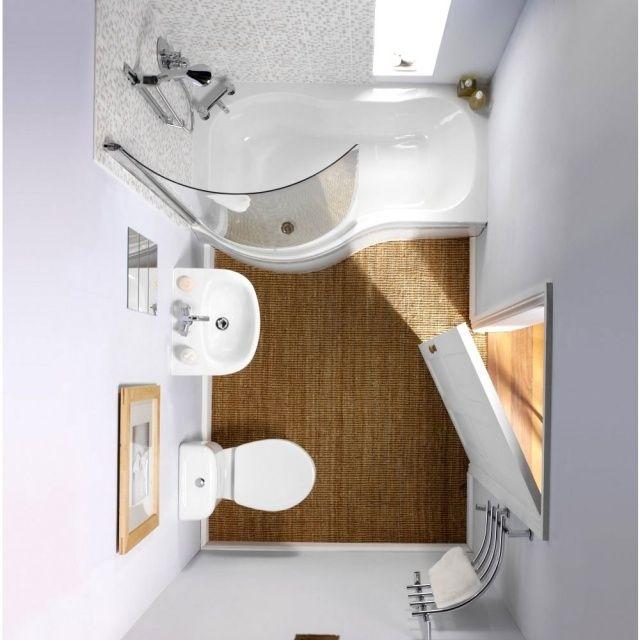 badezimmergestaltung ideen kleine bde badewanne dusche lage - Moderne Badezimmer Mit Dusche Und2
