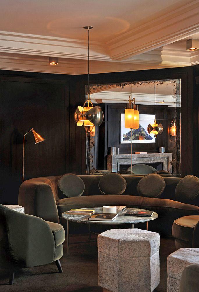 L'Apogée à Courchevel, un hôtel de luxe désigné par Joseph Dirand et India Mahdavi.