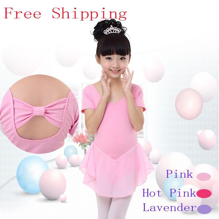>> Click to Buy << Free Shipping Chiffon Cotton Girl Kid Short/Long Sleeve Gymnastic Leotards Children Cotton Butterfly Tie Flexible Tutu Dress #Affiliate
