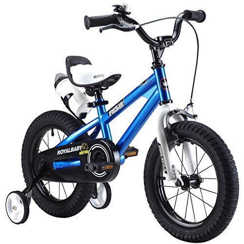 RoyalBaby BMX Freestyle Kids Bike Boys Bikes and Girls Bikes with training wheels Gifts for children 14 inch wheels Blue >>> Check out the image by visiting the link.