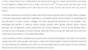 Get 70th Independence Day Speech In Hindi, English For Student who prepare speech for Independence day 2016.