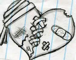 Gallery For > Pretty Broken Hearts Drawings