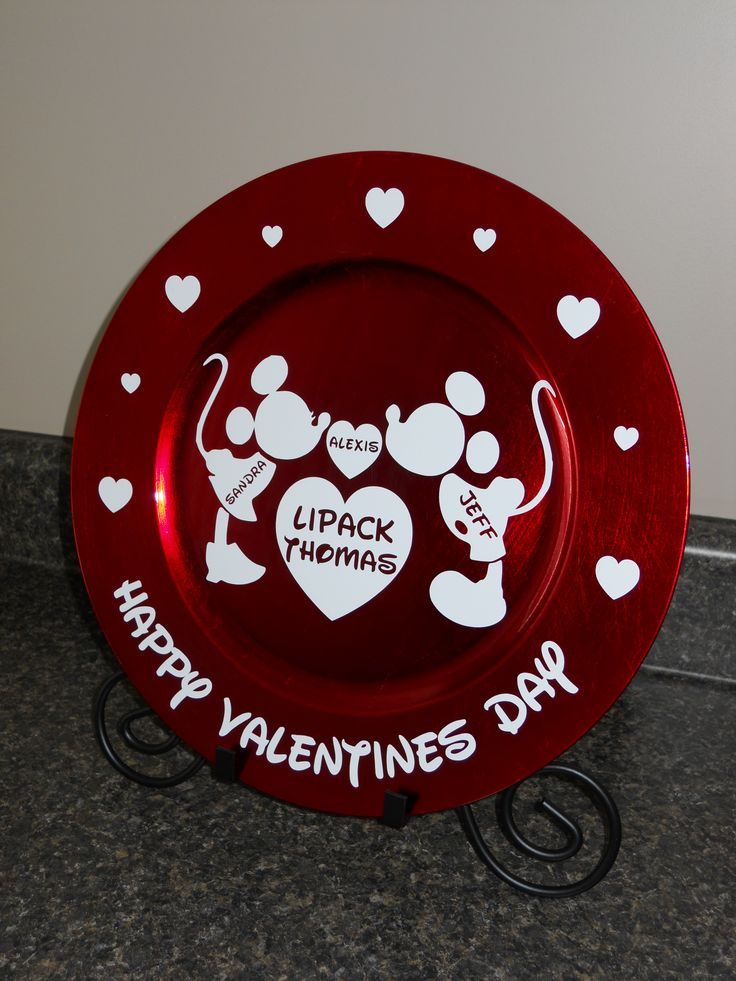 charger plate craft ideas valentines charger personalized 3518