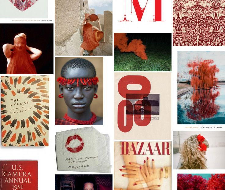 Issue #1 Moodboard #theme ROUGE