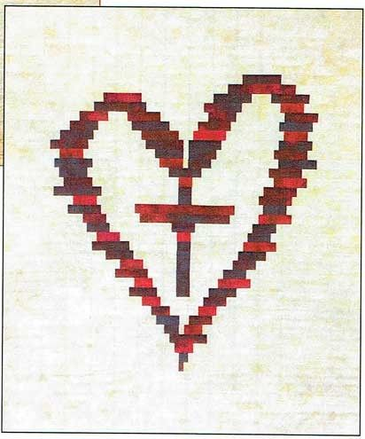 Cross Your Heart Jelly Roll Friendly Quilt Pattern by J Michelle Watts at Creative Quilt Kits