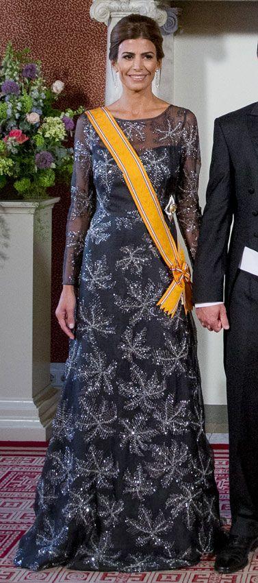 Máxima de Holanda y Juliana Awada empatan en elegancia durante la cena de Estado en Ámsterdam
