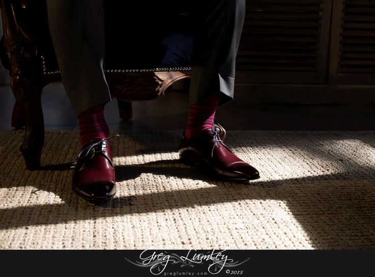 Grooms wedding shoes.