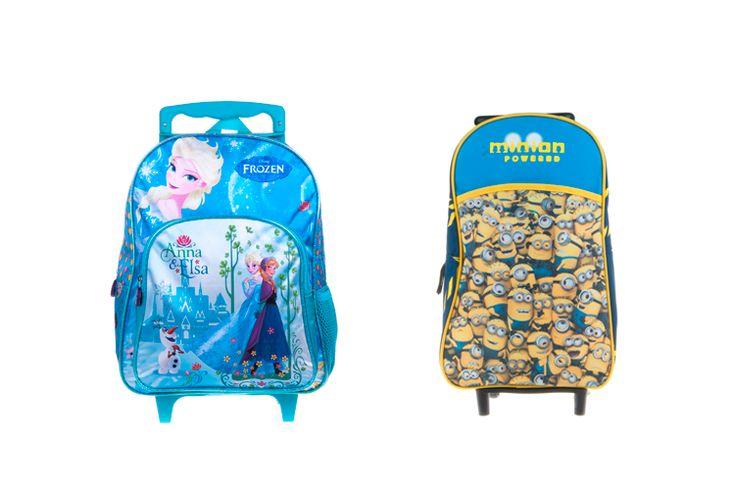 Mochilas escolares con ruedas de Frozen, Minions y Violetta http://stylelovely.com/primeriti/2016/02/26/mochilas-escolares/
