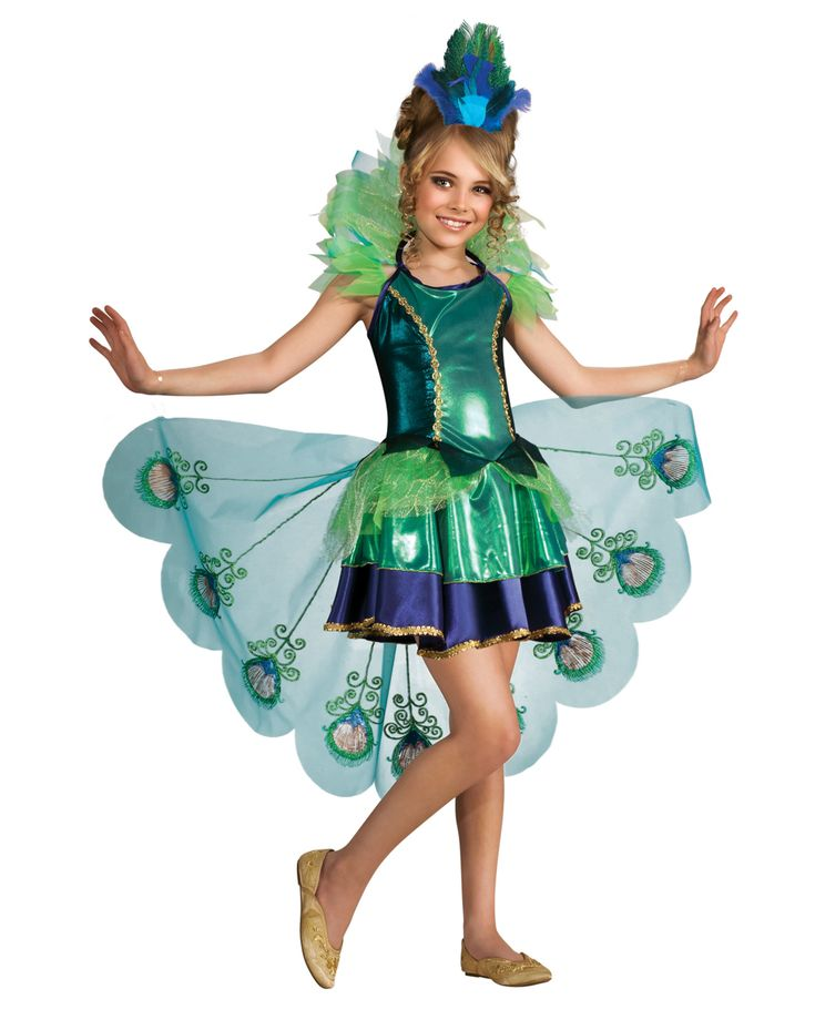 peacock halloween costume girls peacock costume for kids dress up medium new - Green Halloween Dress