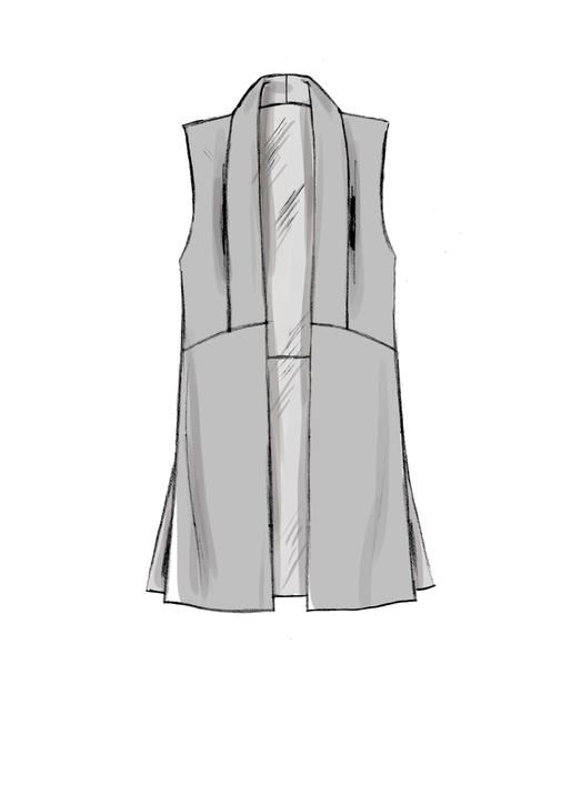f2860db5e9526 McCall s jacket and vest sewing pattern. M7693 Misses  Shawl Collar Vest  and Jackets