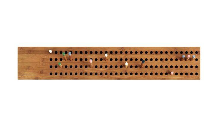 Grafische kapstok van hout
