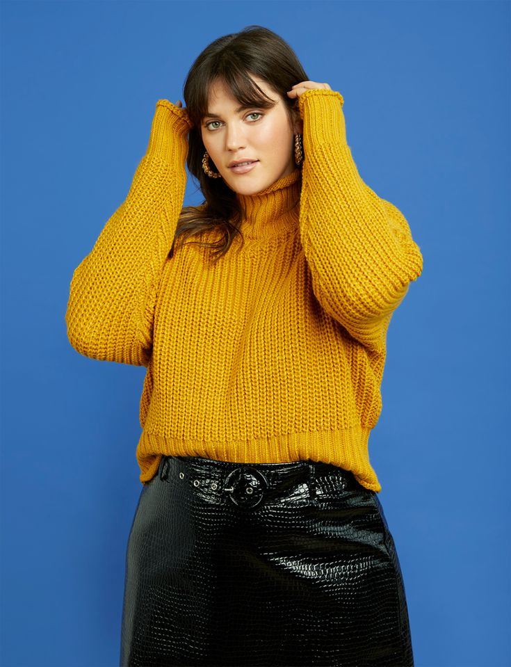 R29 x ELOQUII Mock Neck Sweater 17