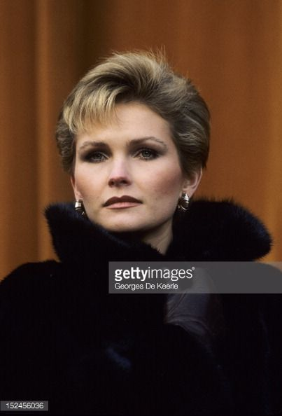 Fiona Fullerton during production of the James Bond film 'A View to a Kill', UK, 1985. ( (403×594)