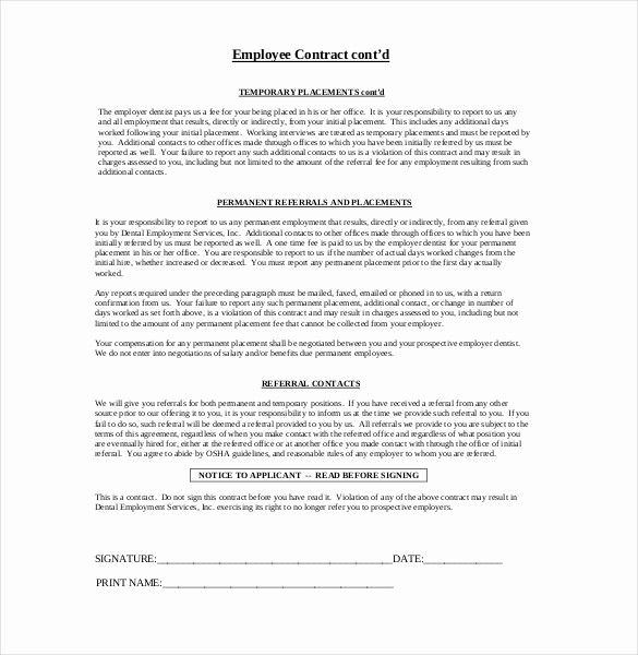 Employment Contract Template Free Download Best Of 21 Employment Agreement Templates Free Word Pdf Format Contract Template Word Template Template Free