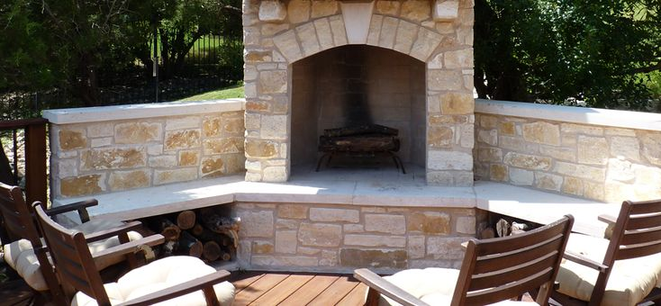 24 best images about backyard on pinterest propane fire for Austin stone fireplace
