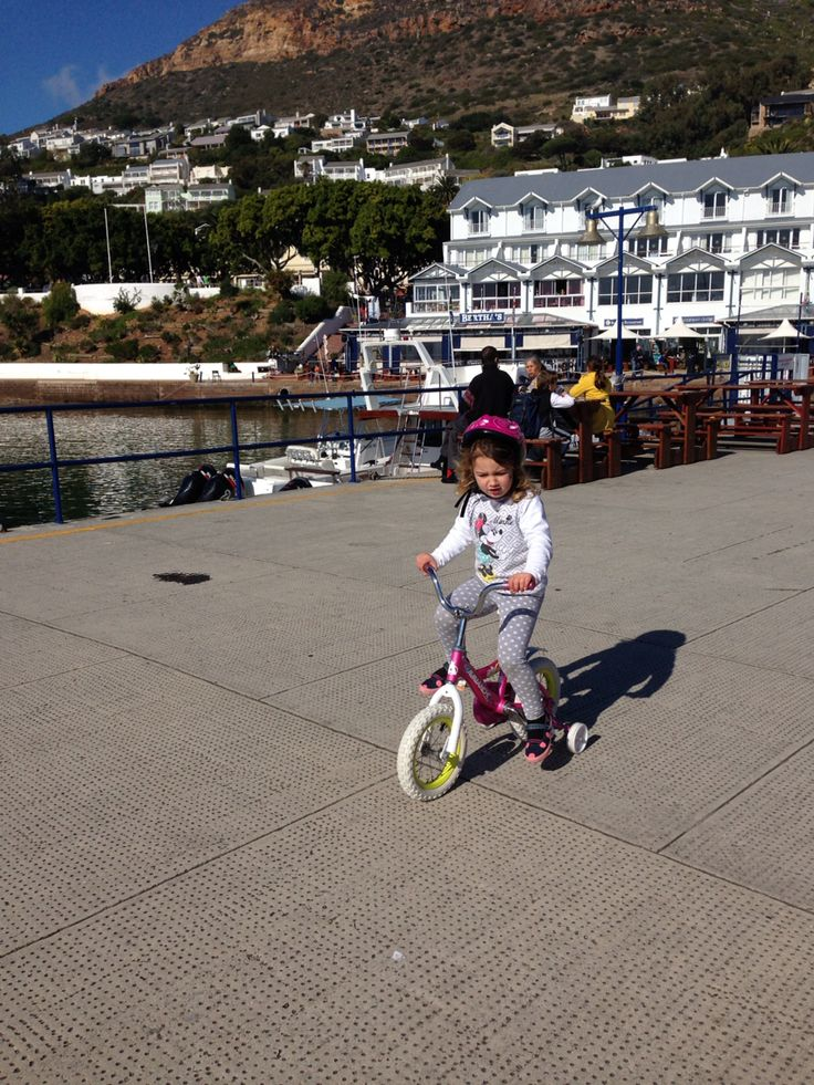 Bicycling down the peer in Simons Town Harbour.  Fish and chip from Salty Sea dogs and talking about boats and other forms of transport.  Also a fun fishing activity can be explored!