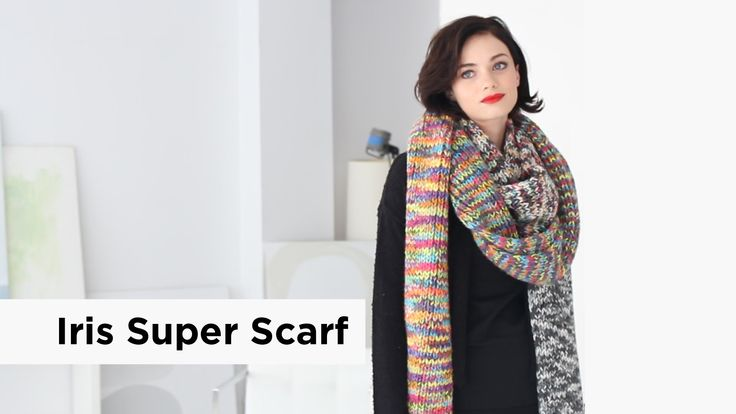 Iris Super Scarf made with Color Waves