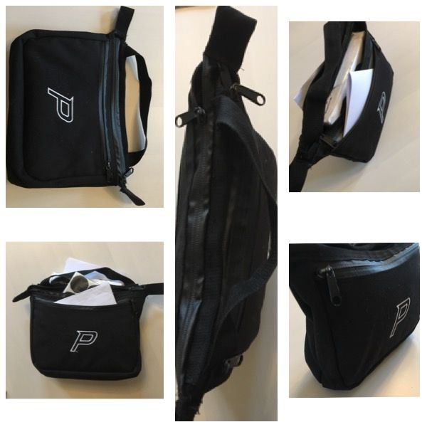 Prodigy toilet bag made from old frisbee golf bag material. 8/2017 Diy