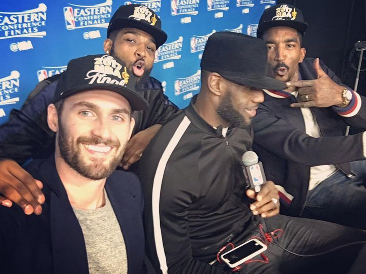 """Podium squad with the All Time Post Season Scoring Leader. Eastern Conference Champs X3!!!"""
