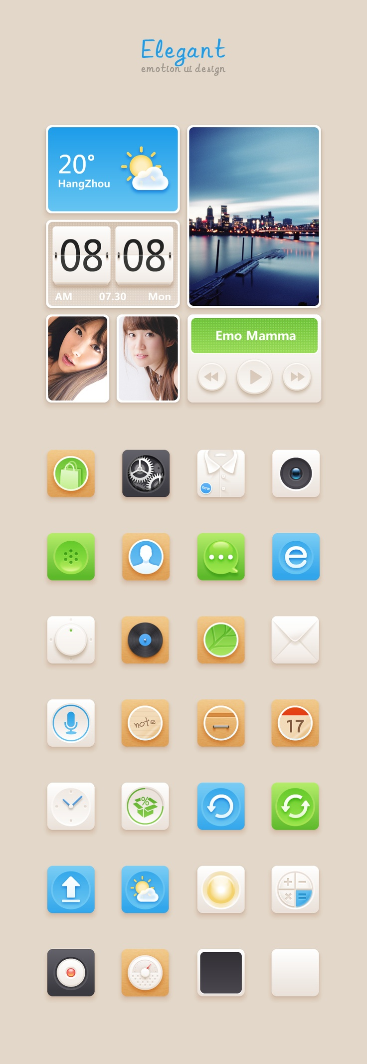 Elegant emotion ui design #ui