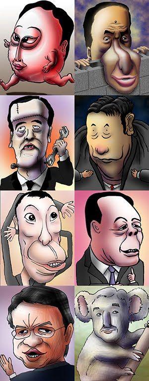 話題の人の似顔絵BLOG: 選ばれなかった人たち