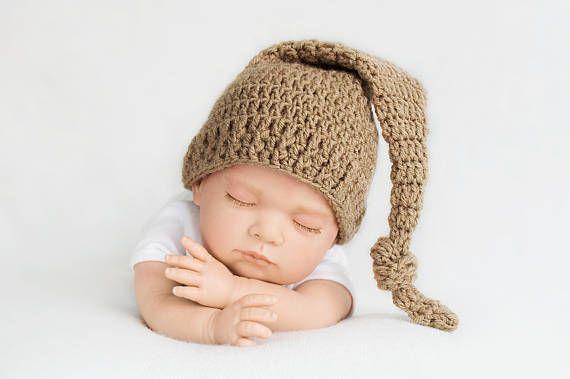 Bonnet de lutin bonnet de nuit accessoire photo bébé bonnet