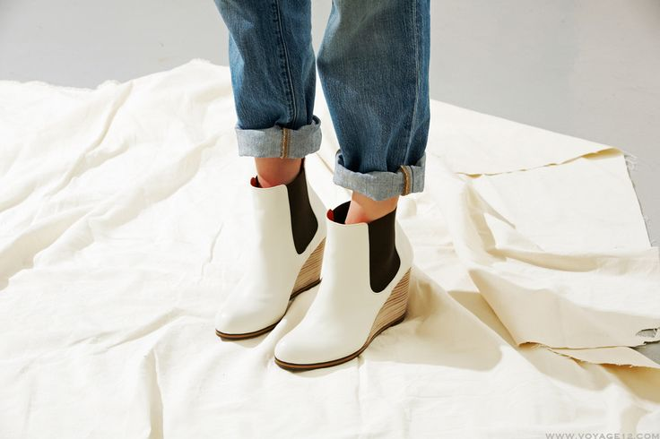 VOYAGE XII  #wedge bootie