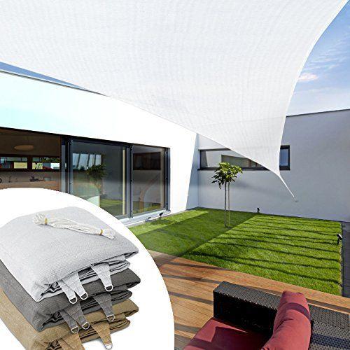 Voile d'ombrage triangulaire casa pura® balcon, pergola, jardin | polyéthylène, résistant | triangle, anti uv: RESISTANTE : voile d'ombrage…