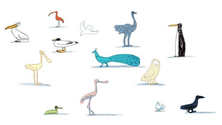 Una babele di specie che convivono in un deserto: le anatre, i pellicani, il pinguino di fianco allo struzzo, e tutt'intorno una terra spoglia, senza alberi. E' l'immagine del caos causato dai cambiamenti climatici, il modo in cui Guido Scarabottolo immagina un futuro in cui gli equilibri naturali sono stravolti dalle azioni insensate dell'uomo.  http://www.lipu.it/problema-riscaldamento-globale