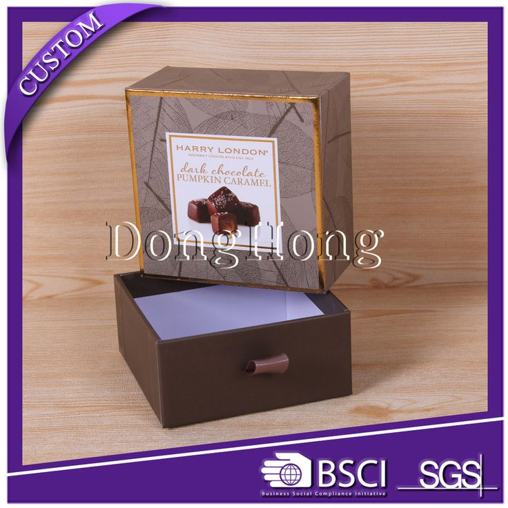 Spot UV cardboard chocolate packaging box india/slide box packaging