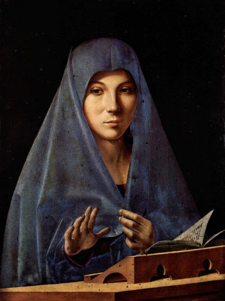 Antonello da Messina - Annunciata (1476) Palazzo Abatellis - Palermo (via Musei Italiani on Facebook)