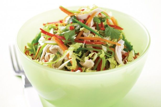 Take salads to the main event with this healthy chicken salad with an Asian…