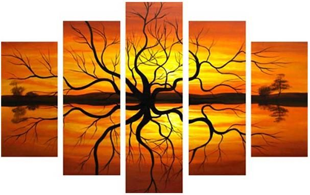 really wanna find something like this for the apartment; love this separate-piece-type artwork!