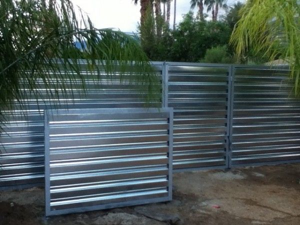 Corrugated Metal Fence Ideas