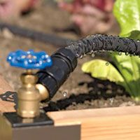 easy watering!! for raised beds: Soaker Hose, Snip N Drip Soaker, Garden Ideas, Soaker System, Raised Beds, Outdoor, Gardens, Gardening, Backyard
