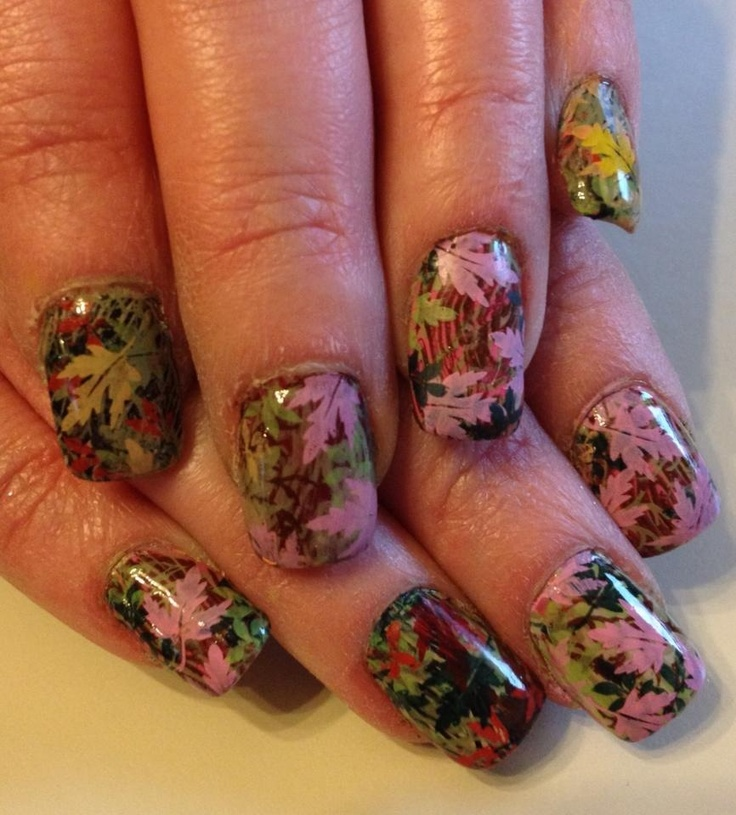 Country Girl Nail Art: Mossy Oak Camo Inspired Nail Art Design Using Nail