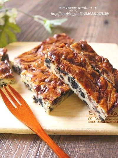 オレオとチョコマーブルのチーズケーキバー |たっきーママ オフィシャルブログ「たっきーママ@happy kitchen」Powered by Ameba