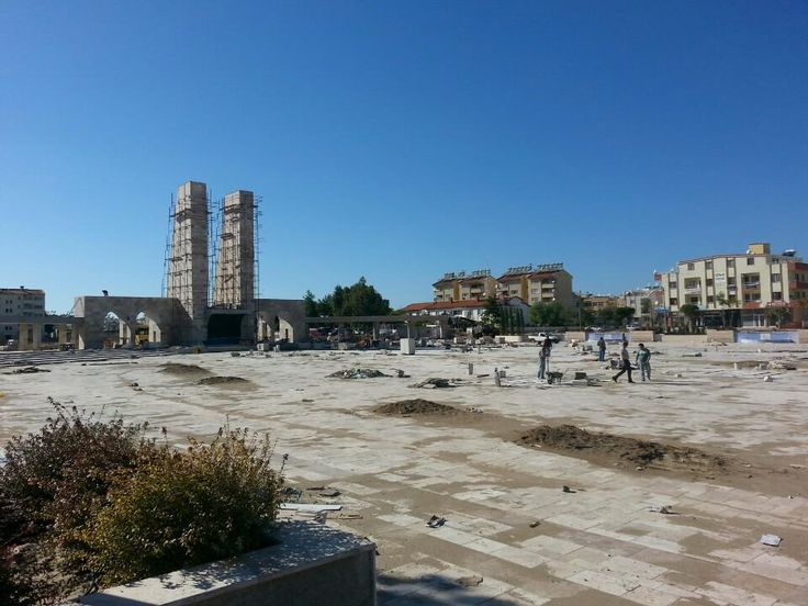 Didim town square - close to completion in late summer 2013