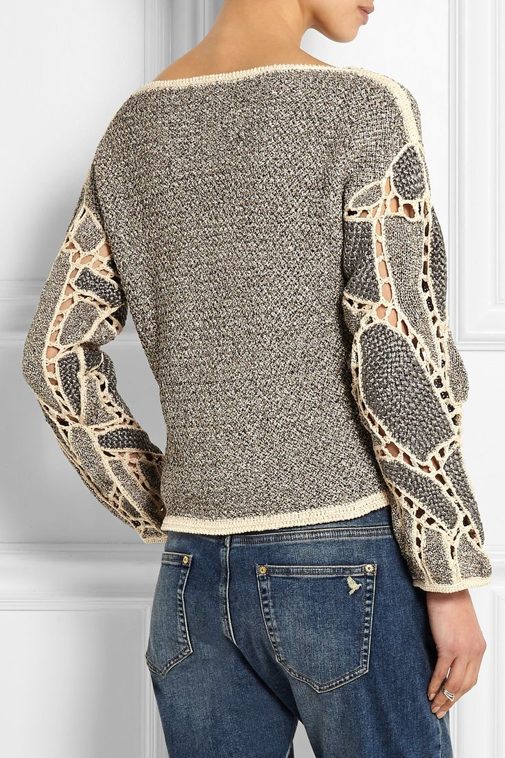 Maiyet | handfinished crochet of knit patches to create sleeves