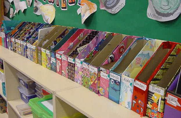 I think this webpage has so many great storage ideas and organization tips for the classroom!
