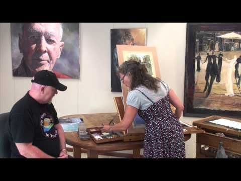 ▶ Fantastic Watercolour Painting Lesson with Lucy McCann - YouTube