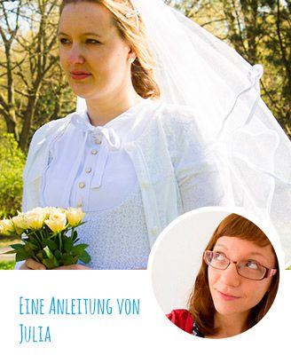 DIY-Anleitung: Romantischen Brautschleier nähen -Schleier, Hochzeit nähen